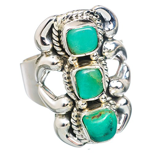 Ana Silver Co Chrysoprase 925 Sterling Silver Ring Size 7.5