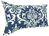 Majestic Home Goods French Quarter Pillow, Small, Navy Blue