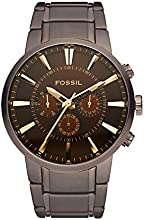 Comprar Fossil FS4357 - Reloj analógico de cuarzo para hombre con correa de acero inoxidable, color marrón