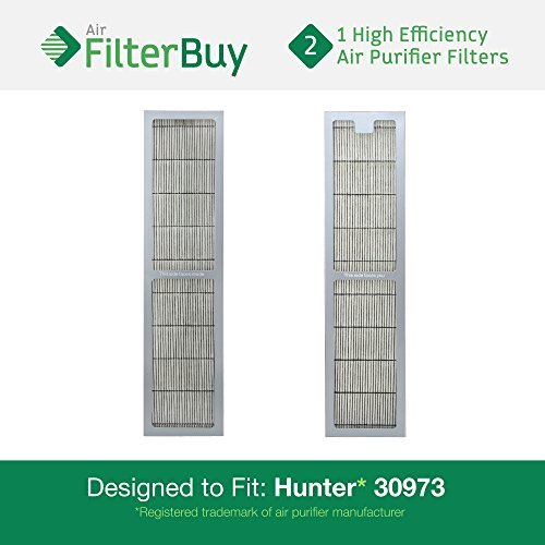 2 - Hunter 30973 Air Purifier Replacement Filter. Designed by FilterBuy to fit Hunter Models 30890 & 30895. by FilterBuy (Hunter Filter Replacement 30406 compare prices)