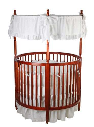 Dream On Me Sophia Posh Circular Crib, Cherry - 1