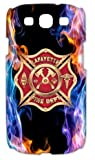 Firefighter Emblem Redeye Flame Red Blue Case Cover for Samsung Galaxy S3