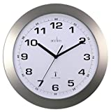 Acctim Radio Controlled Silver Effect Wall Clock