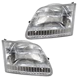 Driver and Passenger Headlights Headlamps Replacement for Ford Pickup Truck SUV 3L3Z 13008 DA 3L3Z 13008 CA