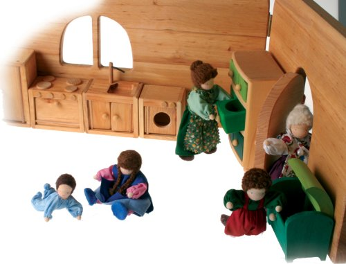 Handmade Open Wooden Doll House