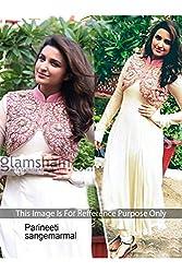 Designer LIME WHITE VELVET Bollywood Replica Dress