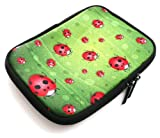 Flash Superstore Ladybirds Water Resistant Neoprene Soft Zip Case/Cover suitable for Elonex 500EB Ebook Reader ( 5-6 Inch eReader / Tablet )