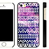 Akna Aztec Stripe Series Fabulous Tribal Pattern Polyethylene Back Case for iPhone 5 5S [Galaxy Nebula]