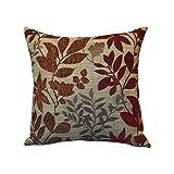 Arlee Bristol Chenille Jacquard Leaf Toss Pillow, Burgundy