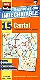 echange, troc Blay-Foldex - Cantal (15). Carte Départementale, Administrative et Routière (échelle : 1/180 000)