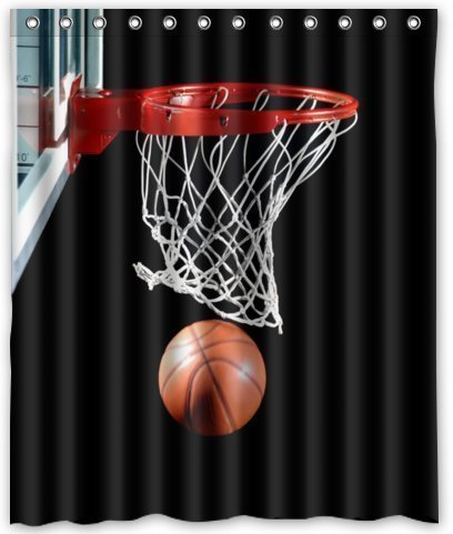 Sea Secret BravoVision Custom Cool Basketball Waterproof Polyester Fabric Shower Curtain 60 (Basketball Quilt compare prices)