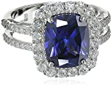 Charles Winston, Sterling Silver, Tanzanite CZ & White Cubic Zirconia Ring, 6.40 ct. tw.
