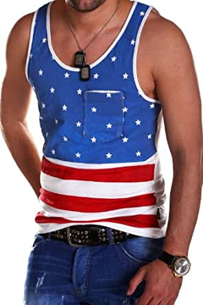 MT Styles - USA vintage - Débardeur tendance - Bleu - L