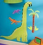 Wallies 13540 Dino Growth Chart Peel and Stick Wall Play