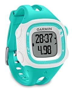 Garmin Forerunner 15 avec cardiofréquencemètre - Montre de running avec GPS intégré - turquoise/blanc