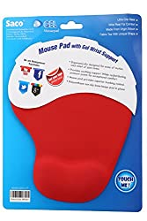 Saco Gelpad-02 Silicone Mouse Pad (Red)