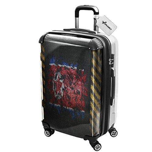 bandera-pintada-north-korea-policarbonato-abs-spinner-trolley-luggage-maleta-rigida-equipaje-con-4-r
