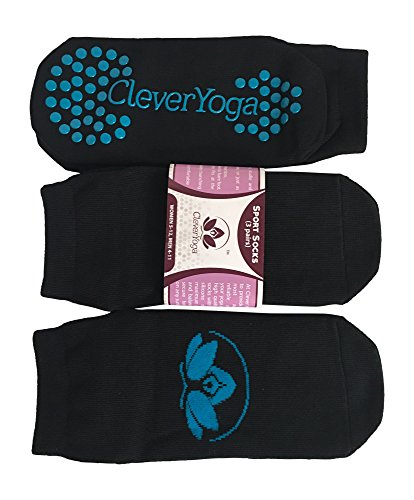 Clever-Yoga-Premium-Socks-for-Sports-Exercise-Pilates-Barre-at-Home-Studio-or-Travel-Women-and-Men-3-Pairs