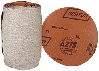 Norton A275 No-Fil Adalox Abrasive Disc, Paper Backing, Adhesive Backed, Aluminium Oxide