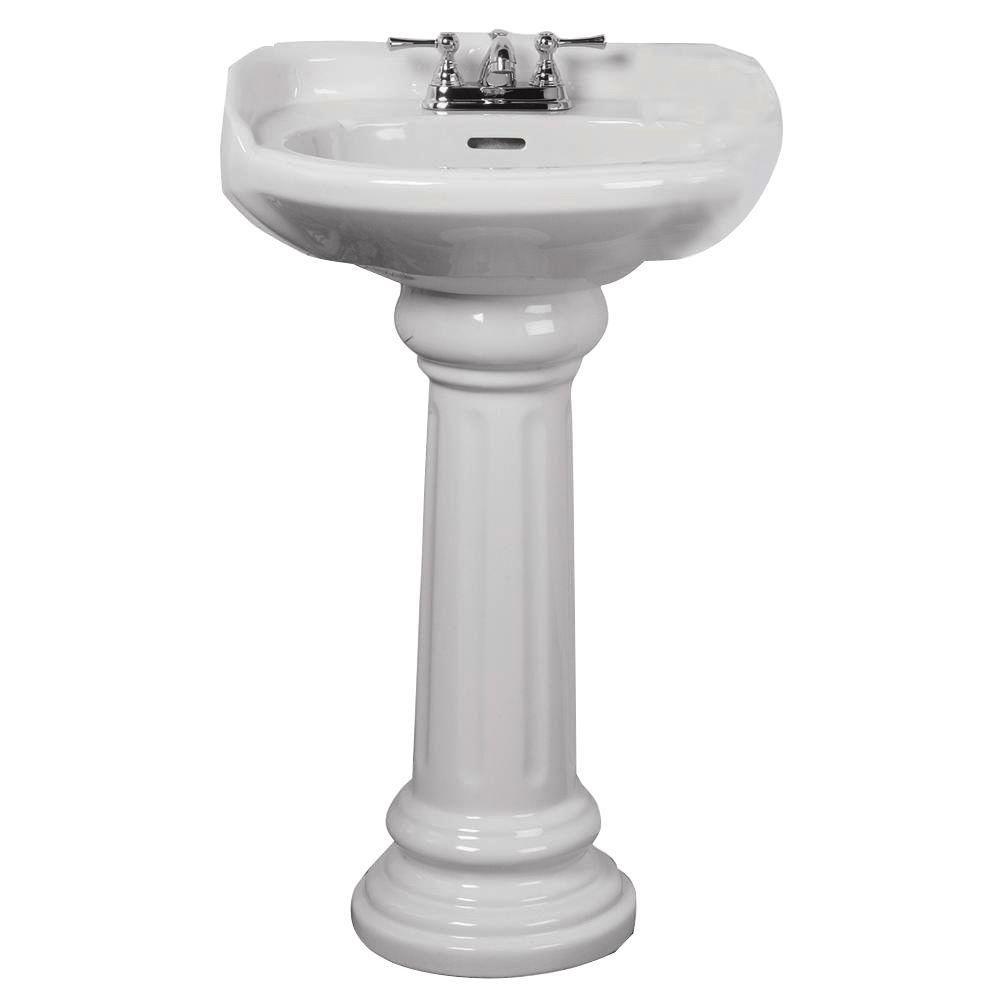 Elizabethan Classics ECAB4WH Aberdeen Pedestal Lavatory, 4-Inch Centers, White 0
