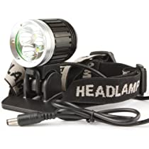 WindFire® 3X CREE XM-L T6 3800Lm LED Bicycle Light, 4 Modes CREE LED Lamp Headlight, Super Bright CREE T6 LED Lighting Headlamp with Rechargeable 6400mAh battery Pack and Charger, Powerful Cree LED Bicycle Lamp Light Flashlight Torch for Outdoor Activities Like Camping, Riding, Climbing, Hiking et