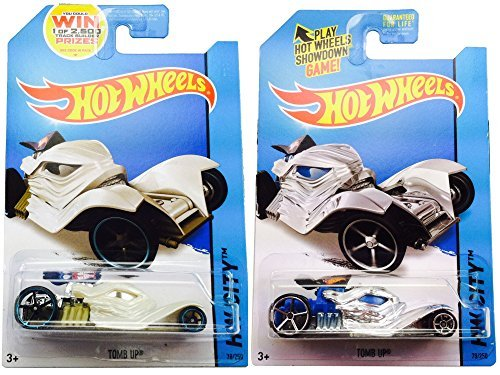 Hot Wheels Tomb up Car Set - Silver & Pearl White Fright Cars 78/250 2014