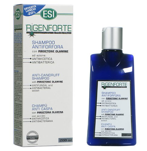 ESI Rigenforte Shampoo Anti Forfora Capelli 200 ml Azione Antimicotica Anti Caspa