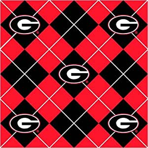collegiate fleece university of georgia argyle fabric by the yard. Black Bedroom Furniture Sets. Home Design Ideas