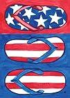 Patriotic Flips Garden Flag