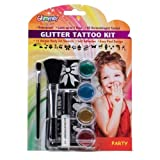 Glimmer Body Art Party Glitter Tattoo Kit