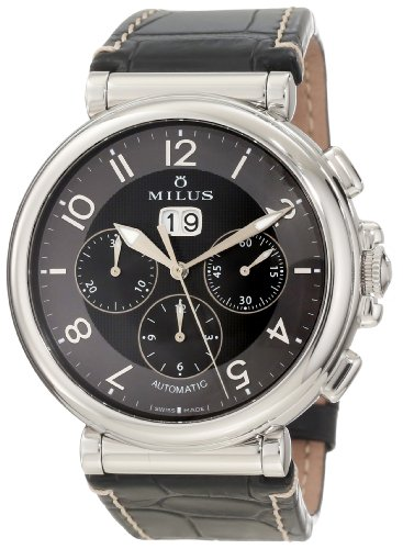 Milus Men's ZETC002F Stainless Steel with Black Dial Watch