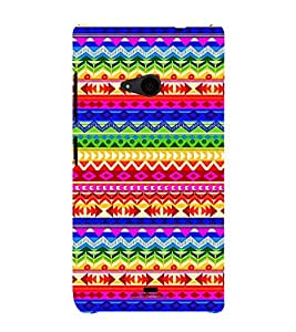 Different Color Pattern 3D Hard Polycarbonate Designer Back Case Cover for Nokia Lumia 535 :: Microsoft Lumia 535
