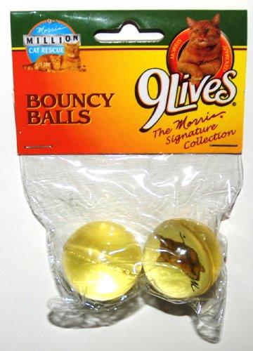 9 Lives Morris the Cat, Bouncy Balls, Set of 2 (1 Set)