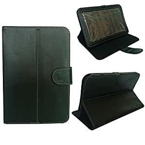 """PU Leather Flip Case Cover Stand with Transparent Screen for 7 inch 7"""" Universal Tablets (Black)"""