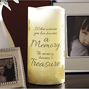"""Amazon.com - 6"""" Flameless Vanilla Scented Memory Pillar Candle With"""