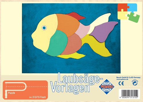 Pebaro 313 1s laubs gevorlage mit motiv fisch - Fische basteln vorlagen ...