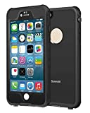 Sunwukin Pro スマホ用防水ケース iPhone 6/6s Plus 5.5 インチ 対応 防塵 防雪 耐衝撃 IP68 Touch ID 認証「ブラック」