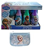 Disney Frozen Queen Elsa, Princess Anna and Olaf Bowling Set Toy Game w/ Baby Blue Frozen Wallet