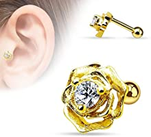 Kultpiercing - Tragus/Helix Piercing Conector Glamour Rose
