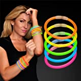 8 Glow Stick Bracelets Mixed Colors (Tube Of 100)
