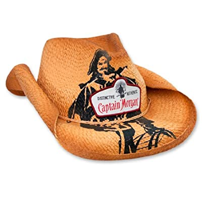 Captain Morgan Patch with Print Natural Straw Cowboy Hat