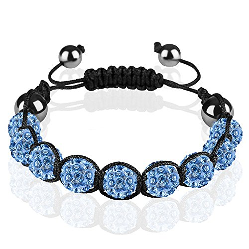 mianova schmuck shamballa strass armband gl cksbringer gl cksarmband mit kristall kugeln. Black Bedroom Furniture Sets. Home Design Ideas