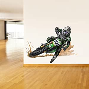 Full color wall decal mural sticker decor art for 70 bike decoration