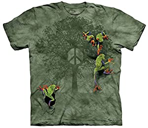 Peace Tree Frog Frosch Erwachsenen T-Shirt von The Mountain - The Mountain