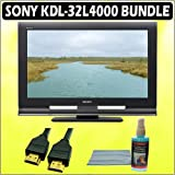 Sony Bravia L-Series KDL32L4000 32-inch 720P LCD HDTV and Accessory Outfit Outfit With Deluxe Plasma
