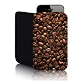Biz-E-Bee Exclusive 'Coffee Beans' Nokia Lumia 820 (L) Neoprene Shock and Water Resistant Mobile Phone Case, Cover, Pouch