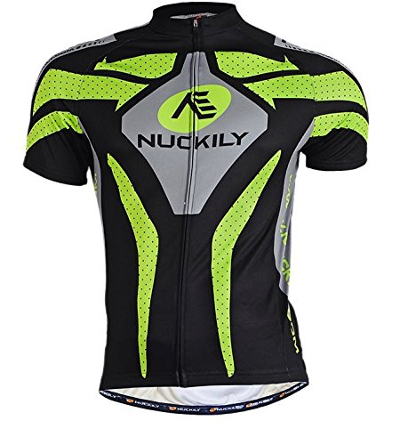 Nuckily Uomo Maglia corta Moda antivento Traspirazione Gilet Manica Jerseys Ciclismo prestazioni traspirante