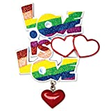 "PERSONALIZED CHRISTMAS ORNAMENTS COUPLES-GAY PRIDE ""LOVE IS LOVE"""