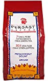 Puroast Low Acid Coffee French Roast Natural Decaf Drip Grind, 2.5-Pound Bag