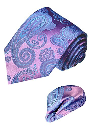 LORENZO CANA - Marken Set aus 100% Seide - Krawatte